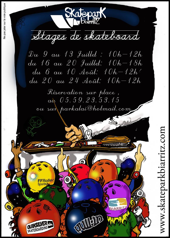 Stage de skateboard d'�t� | Biarritz (64) | Juillet - Ao�t 2012